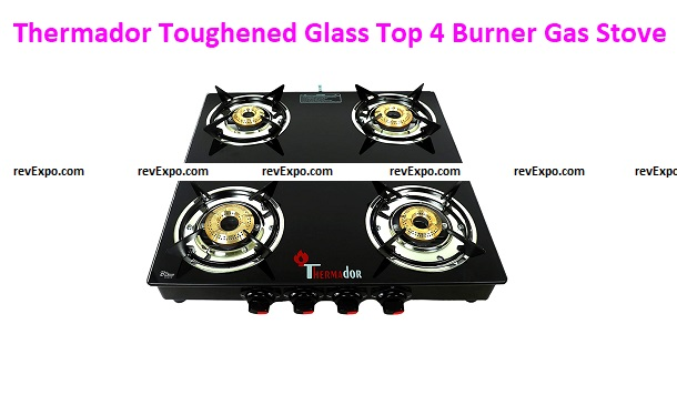 Thermador Toughened Glass Top 4 Burner Gas Stove