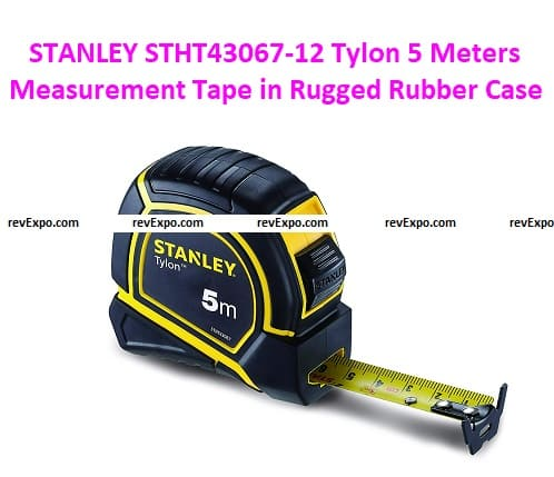 STANLEY STHT43067-12 Tylon 5 Meters Measurement Tape in Rugged Rubber Case