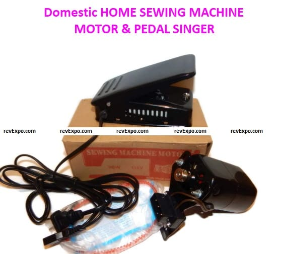 Domestic HOME SEWING MACHINE MOTOR & PEDAL SINGER HA1 15 66 99K