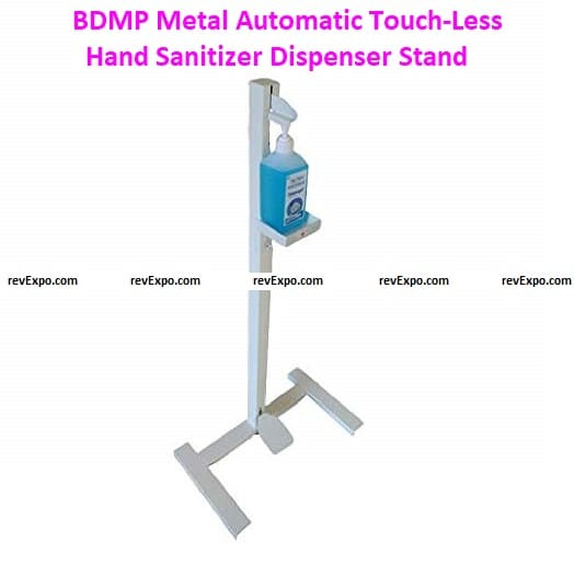 BDMP Metal Automatic Touch-Less Hand Sanitizer Dispenser Stand