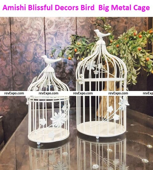 Amishi Blissful Decors Big Metal Cage, Set of two