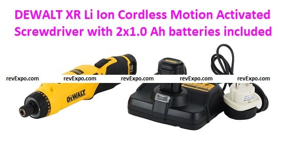 DEWALT DCF680G2-GB 7.2V 6.35 mm XR Li-Ion Cordless Motion Activated Screwdriver with 2x1.0 Ah batteries included