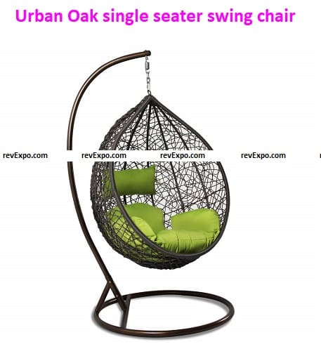 Urban Oak Swinging Chair with Stand
