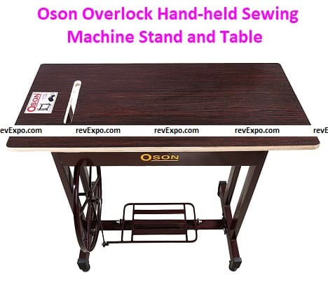 Oson Overlock Hand-held Sewing Machine Stand and Tables (Brown)