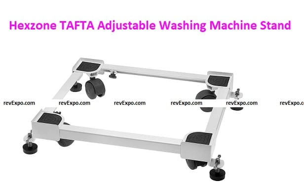 Hexzone TAFTA Adjustable Heavy Duty Front/Top Load Washing Machine Stands Trolley