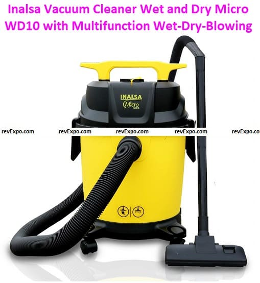 Inalsa Vacuum Cleaner Wet and Dry Micro WD10 with 3in1 Multifunction