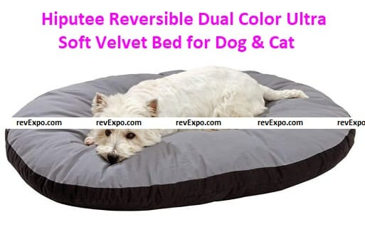 Hiptuee Reversible Dual Color Ultra Soft Velvet Bed
