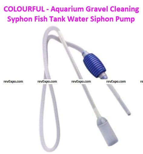 COLOURFUL - Aquarium Gravel Cleaning Syphon Fish Tank Water Siphon Pump Water Changer Tool