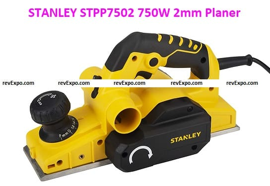 STANLEY STPP7502 750W 2mm Planer (Yellow and Black) with 2 TCT blades