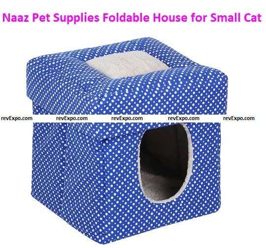 Naaz Pet Supplies Foldable House for Small Dogs Cat and Kittens