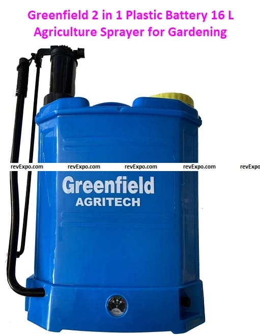 Greenfield 2 in 1 Plastic Battery 12Vx8AH, 16 L Agriculture Sprayer