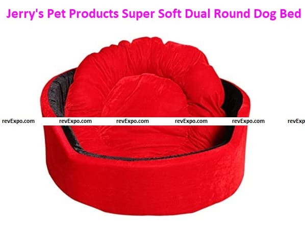 Jerry's Pet Products Super Soft Dual Round Dog Bed