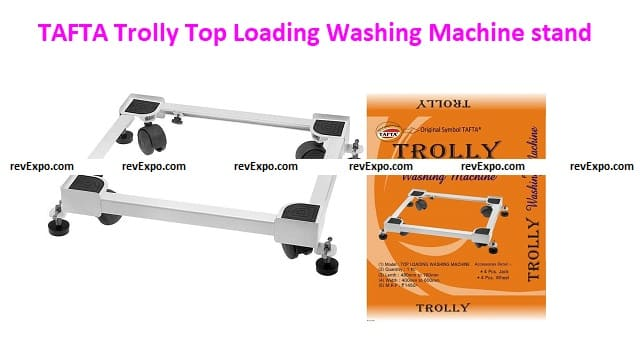 TAFTA Trolly Top Loading Washing Machine Heavy Duty stands For Washing Machine & Refrigerator with Stopper