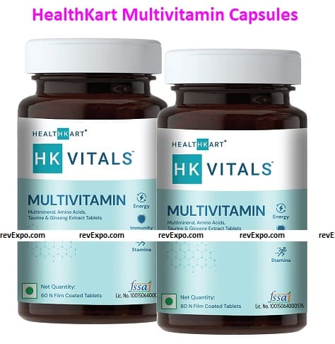 HealthKart Multivitamin with Ginseng Extract, Taurine, and Multi minerals