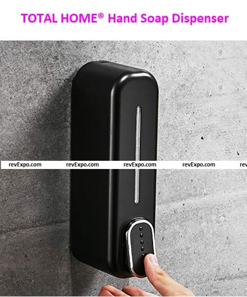 TOTAL HOME® Hand Soap Dispenser Wall Mounted Black 300ml