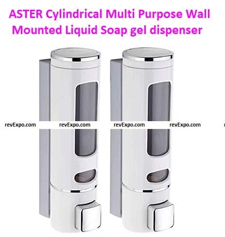 ASTER Cylindrical Multi-Purpose Wall Mounted Liquid Soap