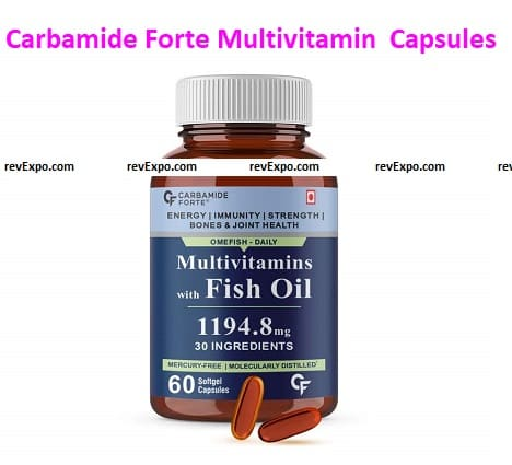 Carbamide Forte Multivitamin with Omega 3 Fish Oil 1194.8mg for Men and Women