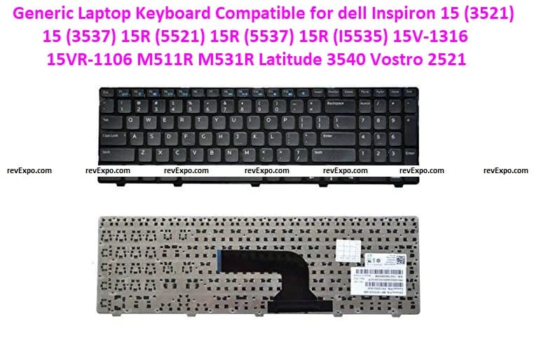 Generic Laptop Keyboard Compatible for dell Inspiron