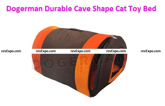 Dogerman Cave Shape Velvet Dual Color Toy Bed for both cats and dogs