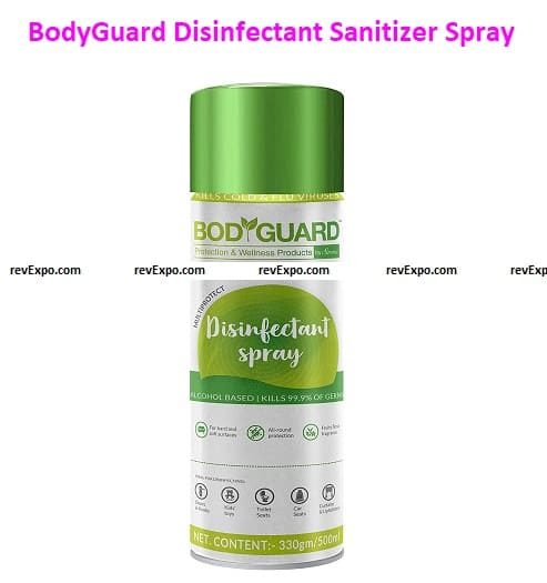 BodyGuard Disinfectant Sanitizer Spray for Multi-Surfaces, Alcohol-Based - 500 ml