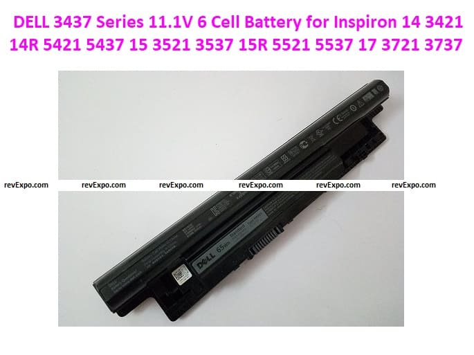 DELL 3437 Series 11.1V 6 Cell Battery for Inspiron 14. 3421