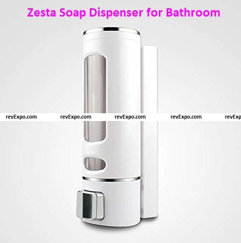 Zesta Soap Dispensers for Bathroom Wall Mounted Plastic