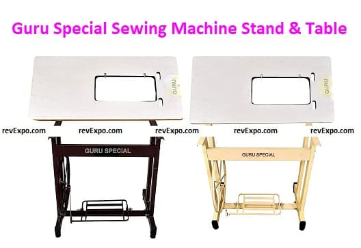 Guru Special Sewing Machine Stand & Tables with Belt