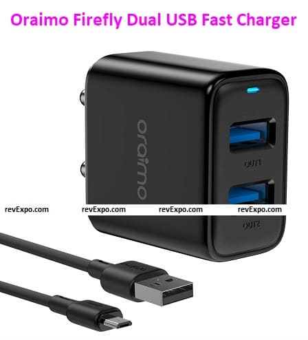 Oraimo Firefly-2S Dual USB Fast Charger