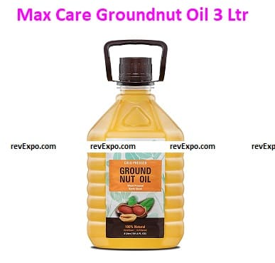 Max Care Cold Pressed Groundnut Oil 3 Ltr