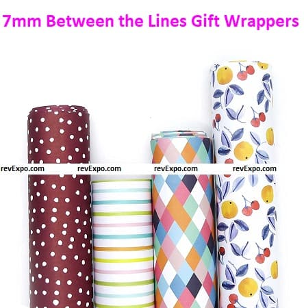 7mm Between the Lines Gift Wrappers