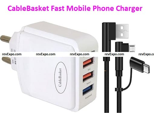 CableBasket Fast Mobile Phone Charger