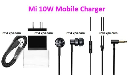 Mi 10W Mobile Charger with Redmi Earphones