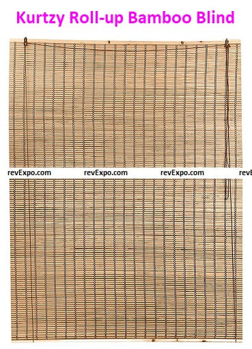 Kurtzy Roll-up Bamboo Blinds