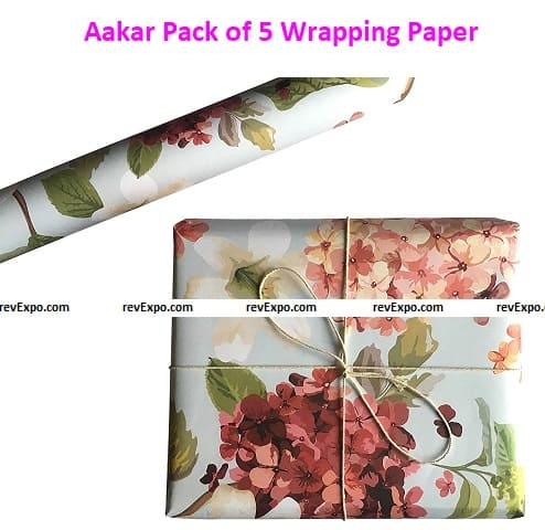 Aakar Pack of 5 Wrapping Paper Sheets