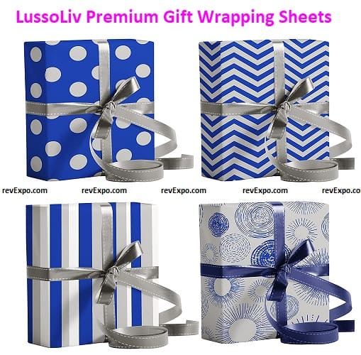 LussoLiv Premium Gift Wrapping Sheets