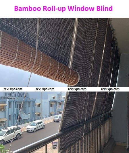 Bamboo Roll-up Window Blind