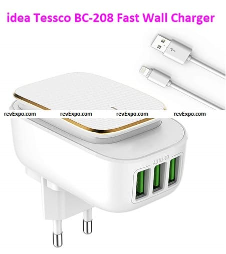 3 idea Tessco BC-208 Fast Wall Charger (with 3 ports)
