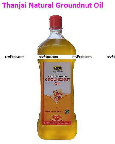 Thanjai Natural 1000ml Groundnut Oil Unrefined and Cold Pressed