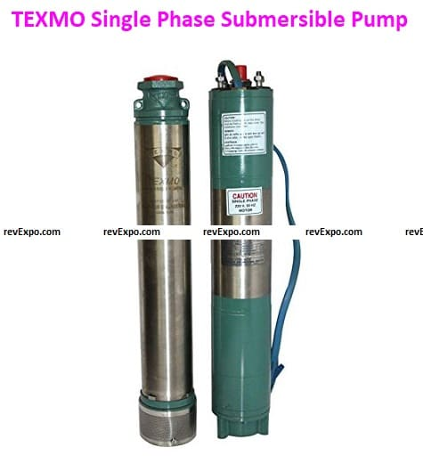 TEXMO Stainless-Steel Single-Phase Submersible Pump