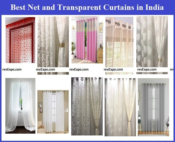 Best Net curtains and Transparent Curtains in India