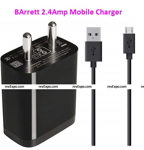 BArrett 2.4Amp Mobile Charger Compatible With Samsung Galaxy