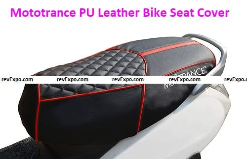 Mototrance PU Leather Bike Scooter Seat Cover