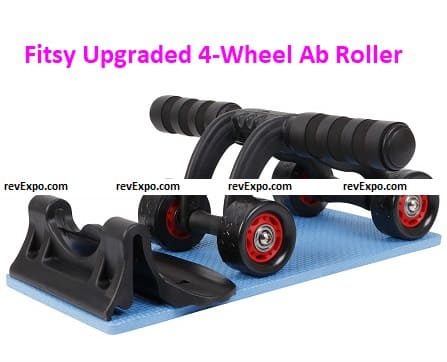 Fitsy Upgraded 4 Wheel Ab Roller