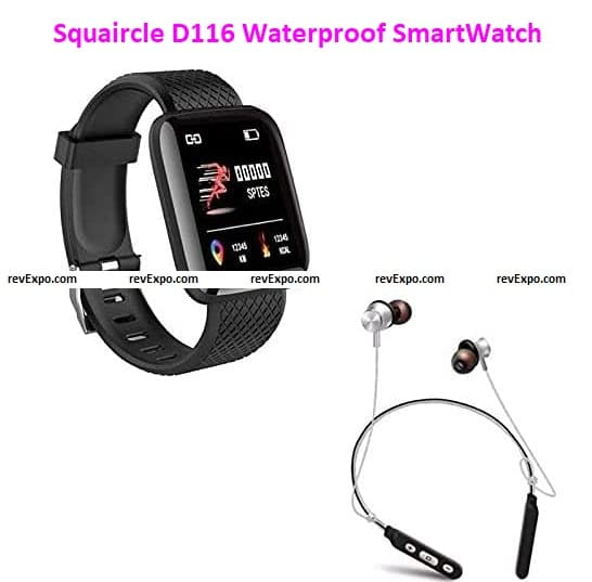 Squaircle D116 Waterproof SmartWatch for Men and Women