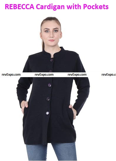 REBECCA Cardigan with Pockets