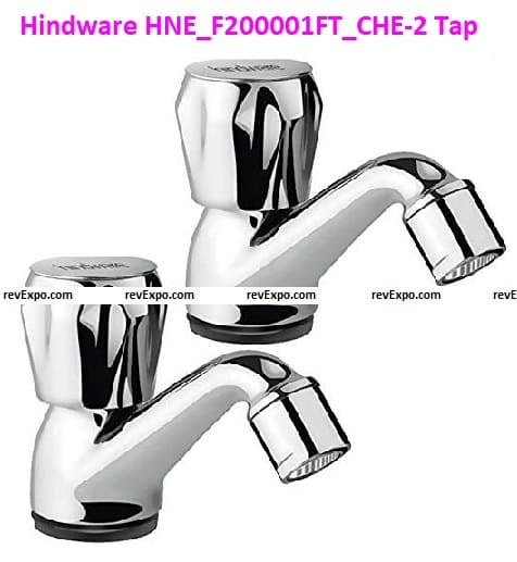Hindware Metal Pillar Tap With Chrome Polished Finish