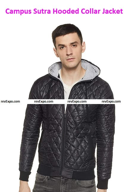Campus Sutra Hooded Jacket for Men