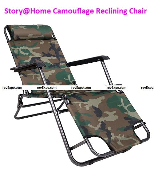Story@Home Easy Folding Camouflage Reclining Chair