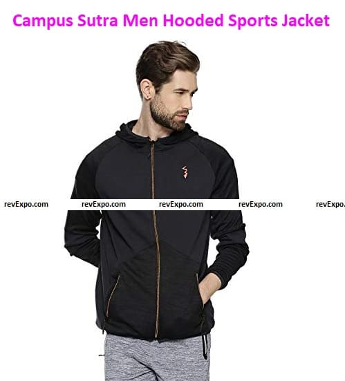 Campus Sutra Hooded Sports Jacket