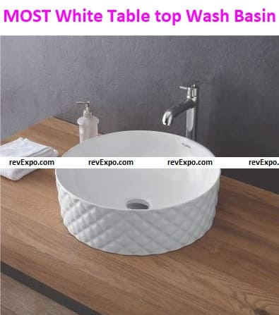 Most White Table Top Wash Basin